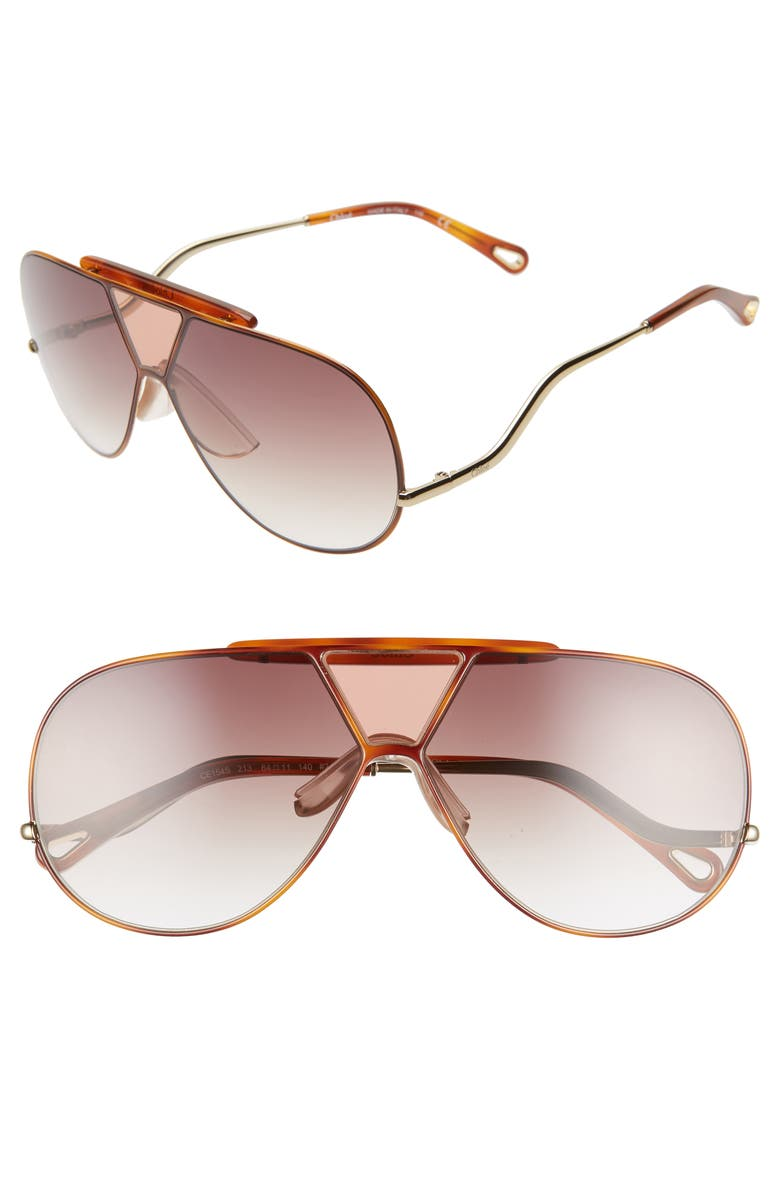 aecd8b73e Willis 64mm Navigator Sunglasses, Main, color, PURPLE HAVANA/ BROWN