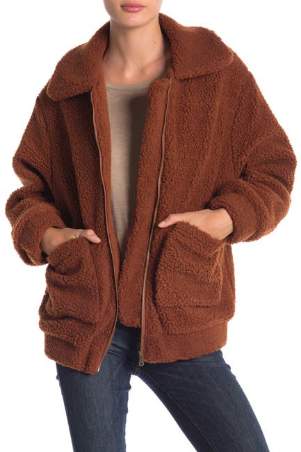 Image of Elodie Faux Shearling Jacket