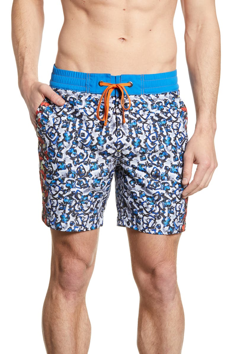 ROBERT GRAHAM Blue Moon Classic Fit Board Shorts, Main, color, 400