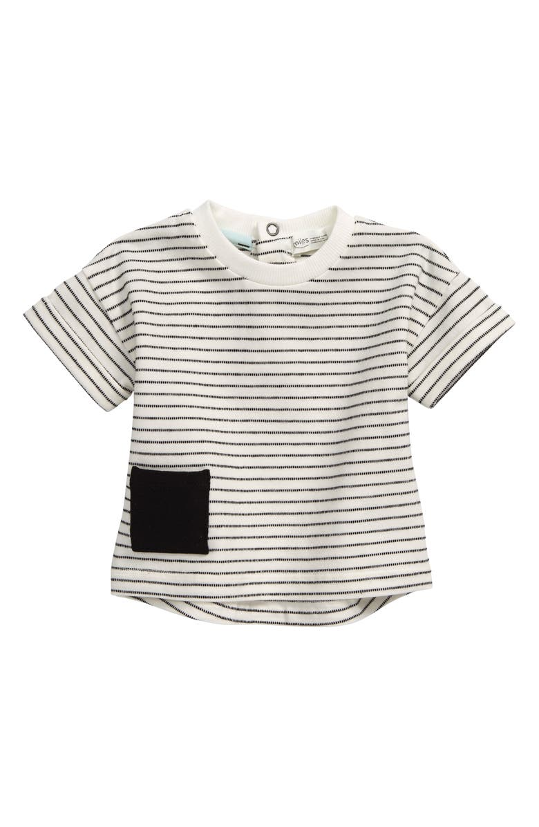 MILES baby Stripe Shirt, Main, color, OFF WHITE