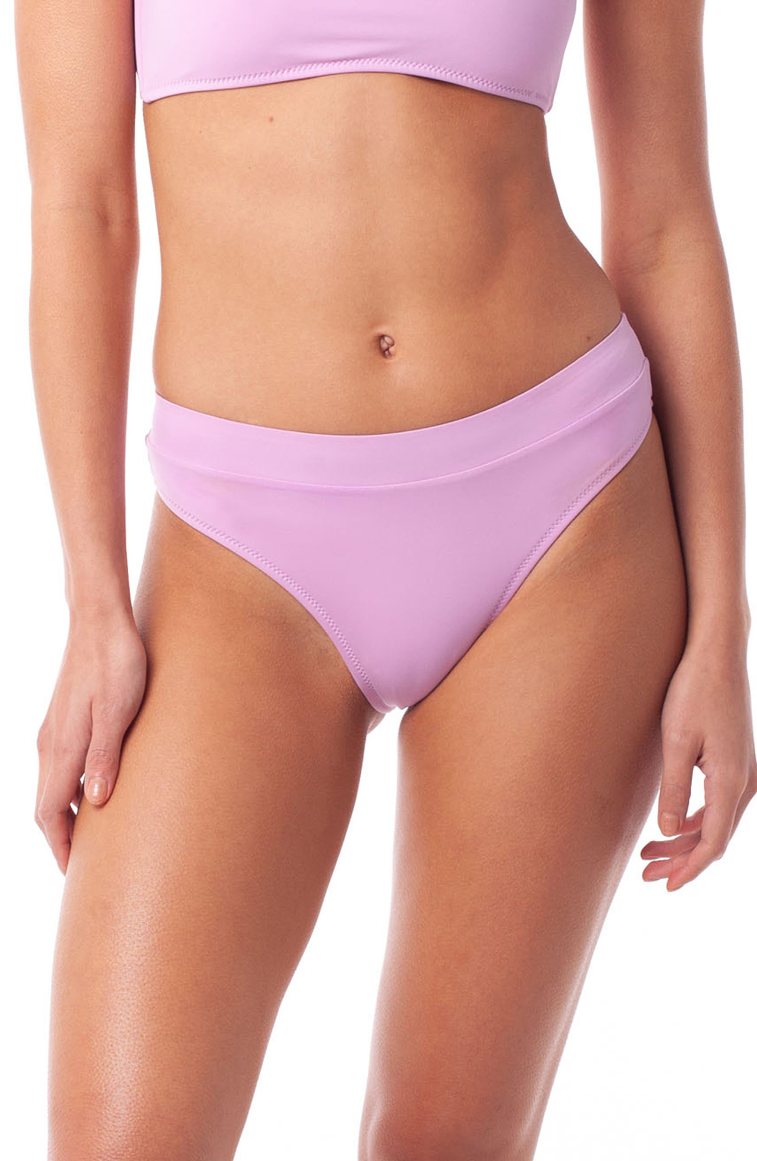 Rhythm Islander Xanadu High Cut Bikini Bottoms, Purple
