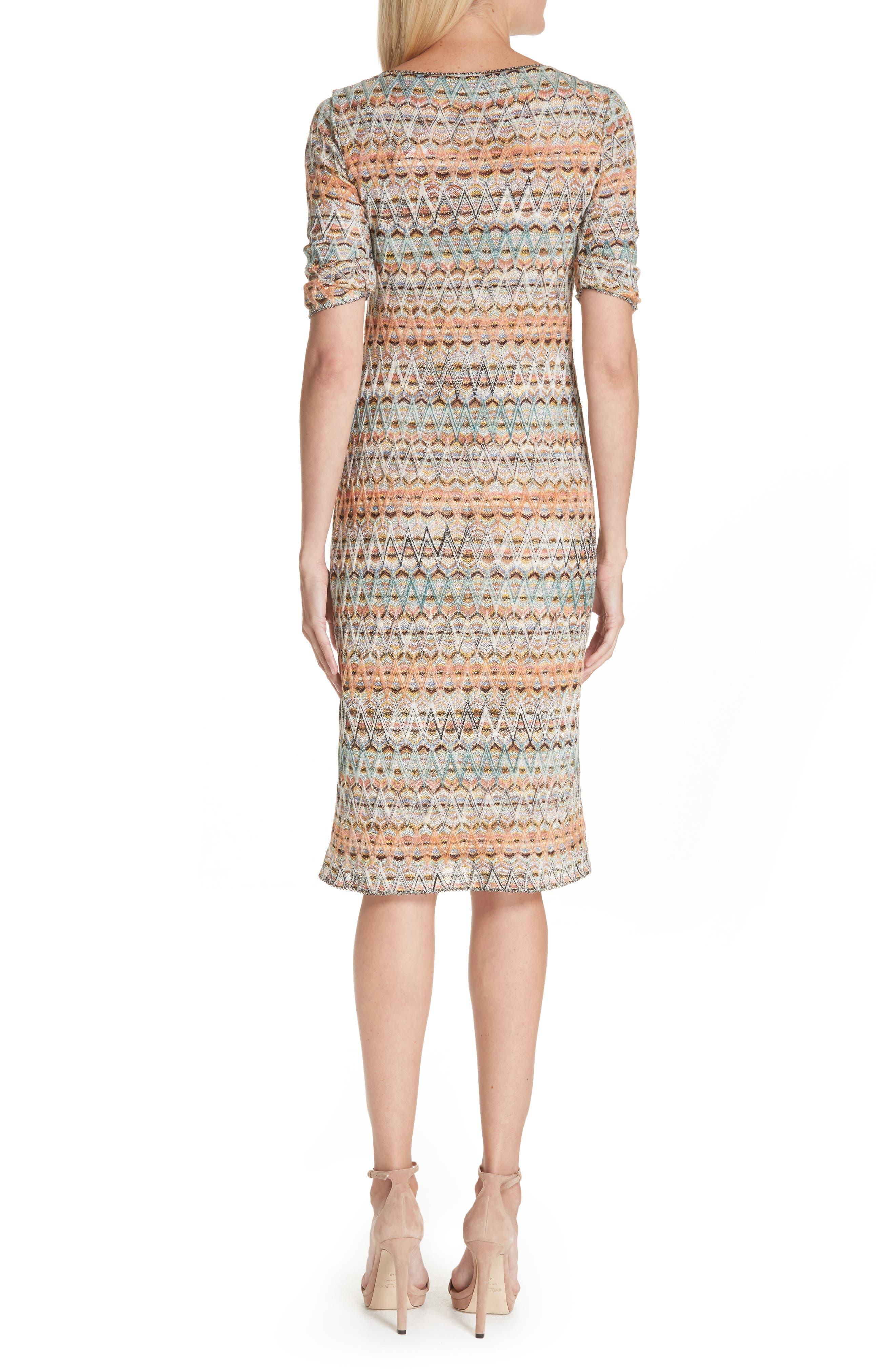 ,                             Open Knit Sweater Dress,                             Alternate thumbnail 2, color,                             MULTI
