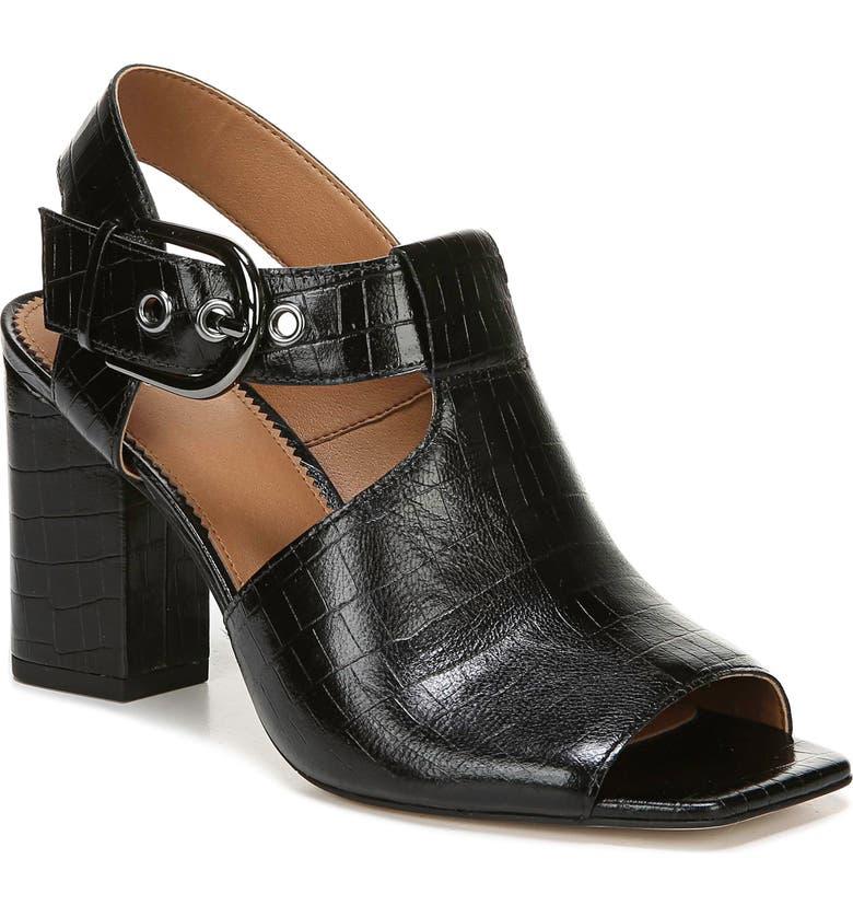 SARTO BY FRANCO SARTO Raychel Shield Sandal, Main, color, BLACK LEATHER