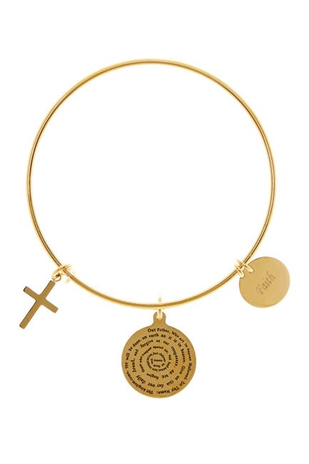 Image of HMY Jewelry Our Father, Faith, & Cross Charms Bracelet