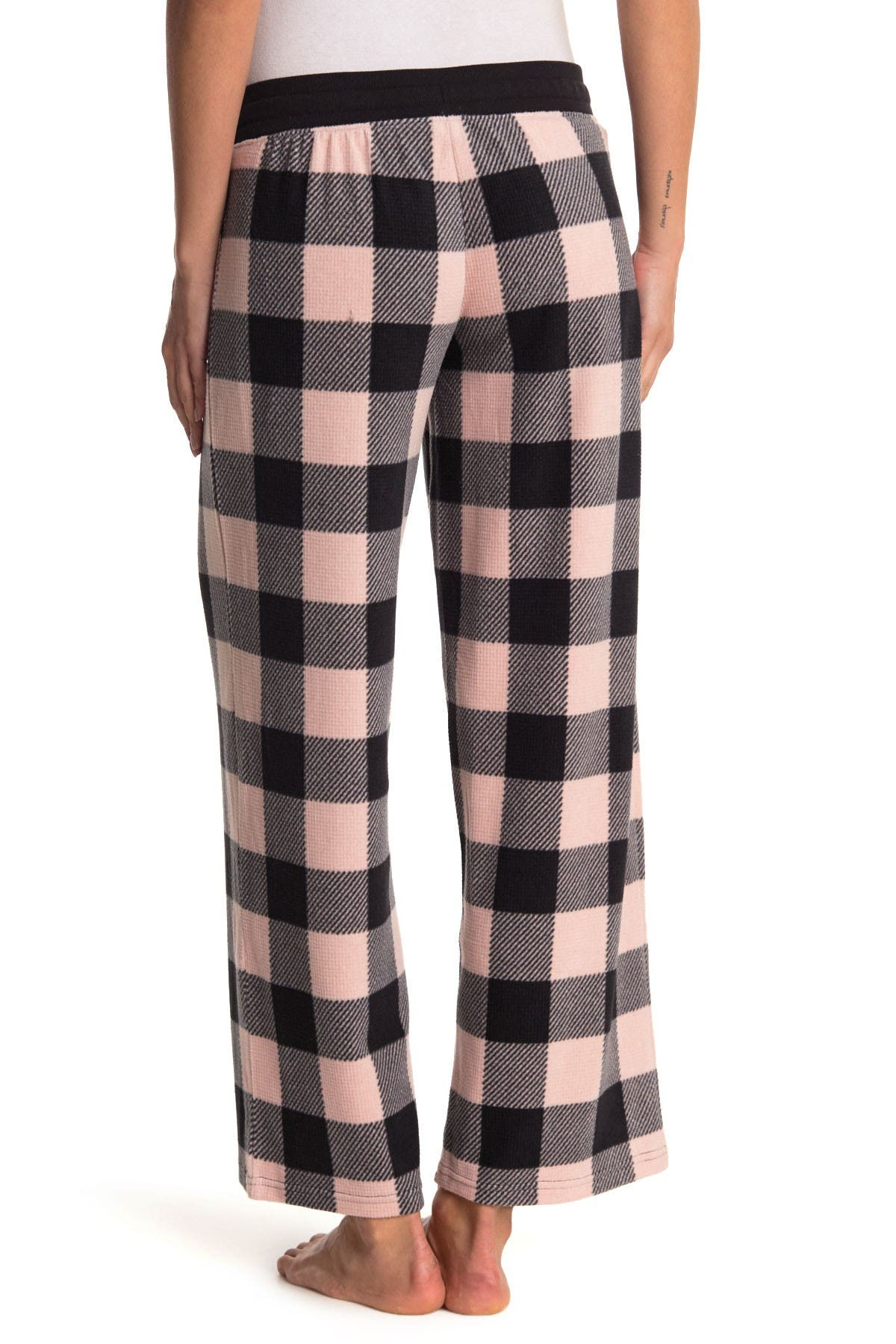 Free Press Waffle Microfleece Patterned Pajama Pants