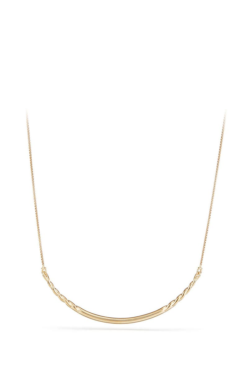 DAVID YURMAN Pure Form Collar Necklace in 18K Gold, Main, color, YELLOW GOLD