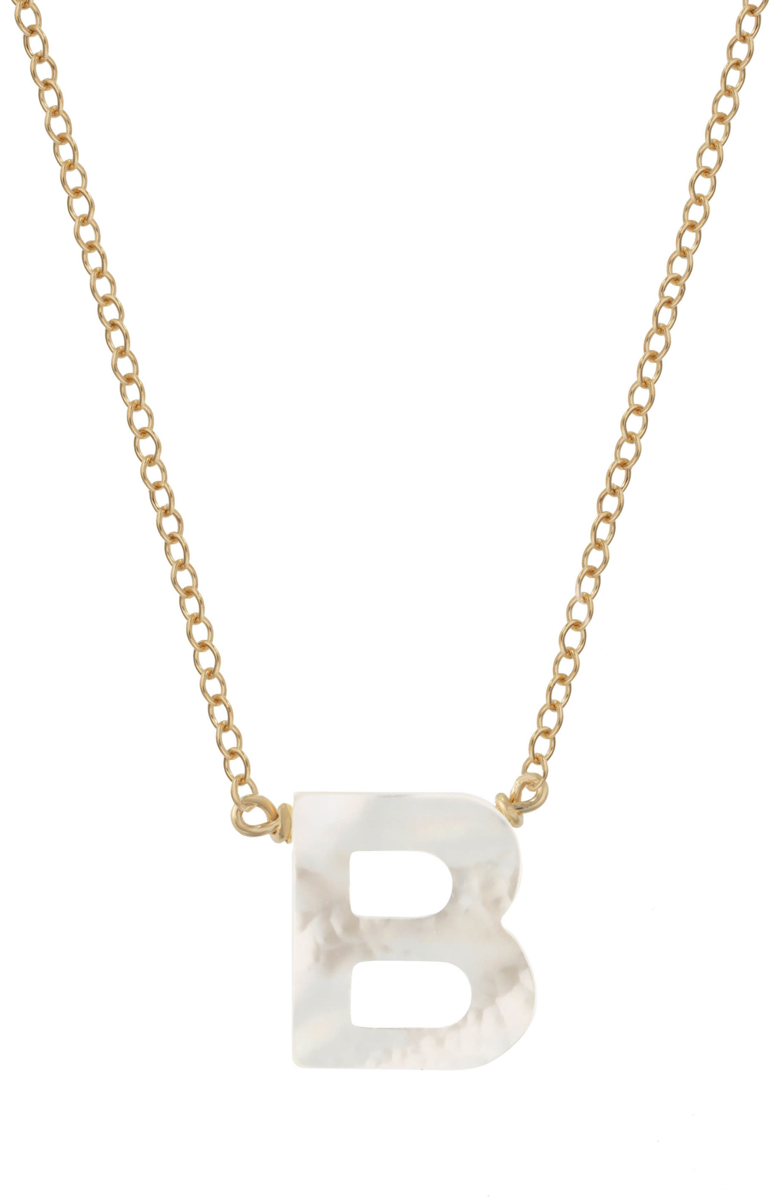 Women's Kozakh Dawn Mother-Of-Pearl Initial Pendant Necklace