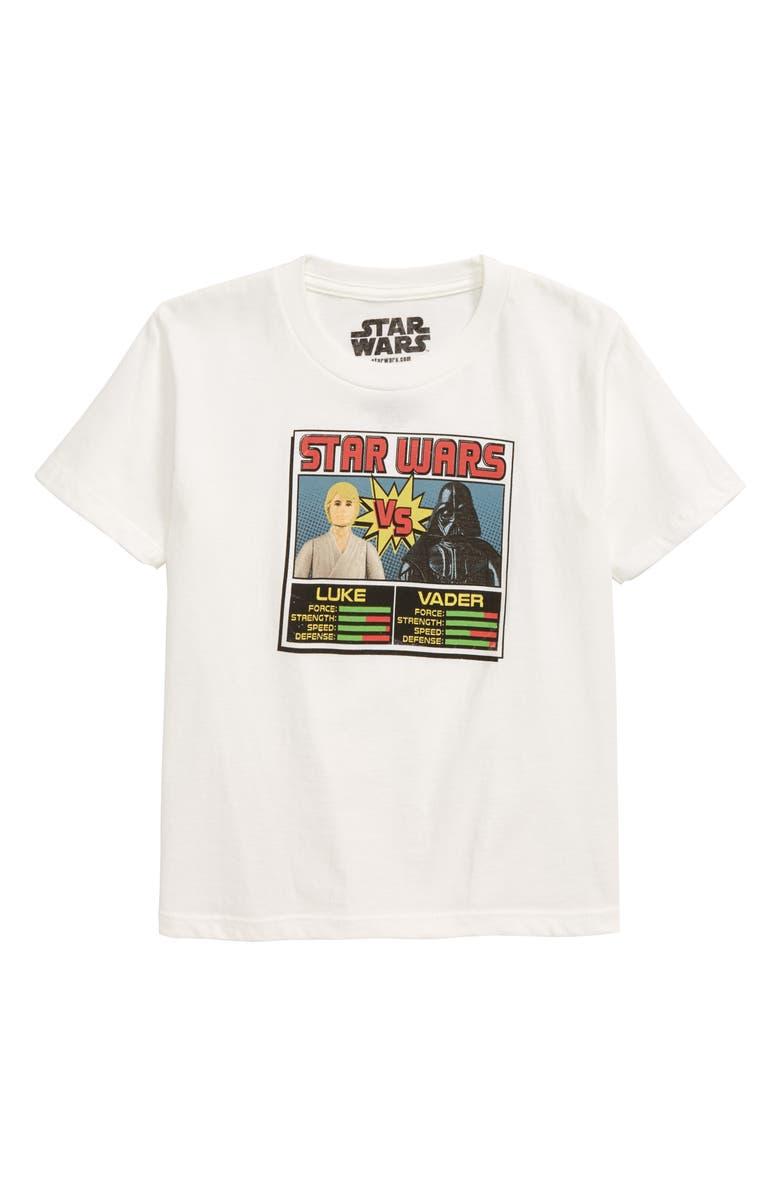 JEM Star Wars Luke Vs. Vader Graphic T-Shirt, Main, color, WHITE