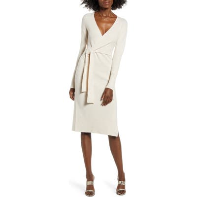 Leith Wrap Sweater Dress
