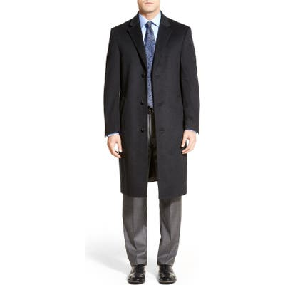 Hart Schaffner Marx Sheffield Classic Fit Wool & Cashmere Overcoat, 0 R - Grey