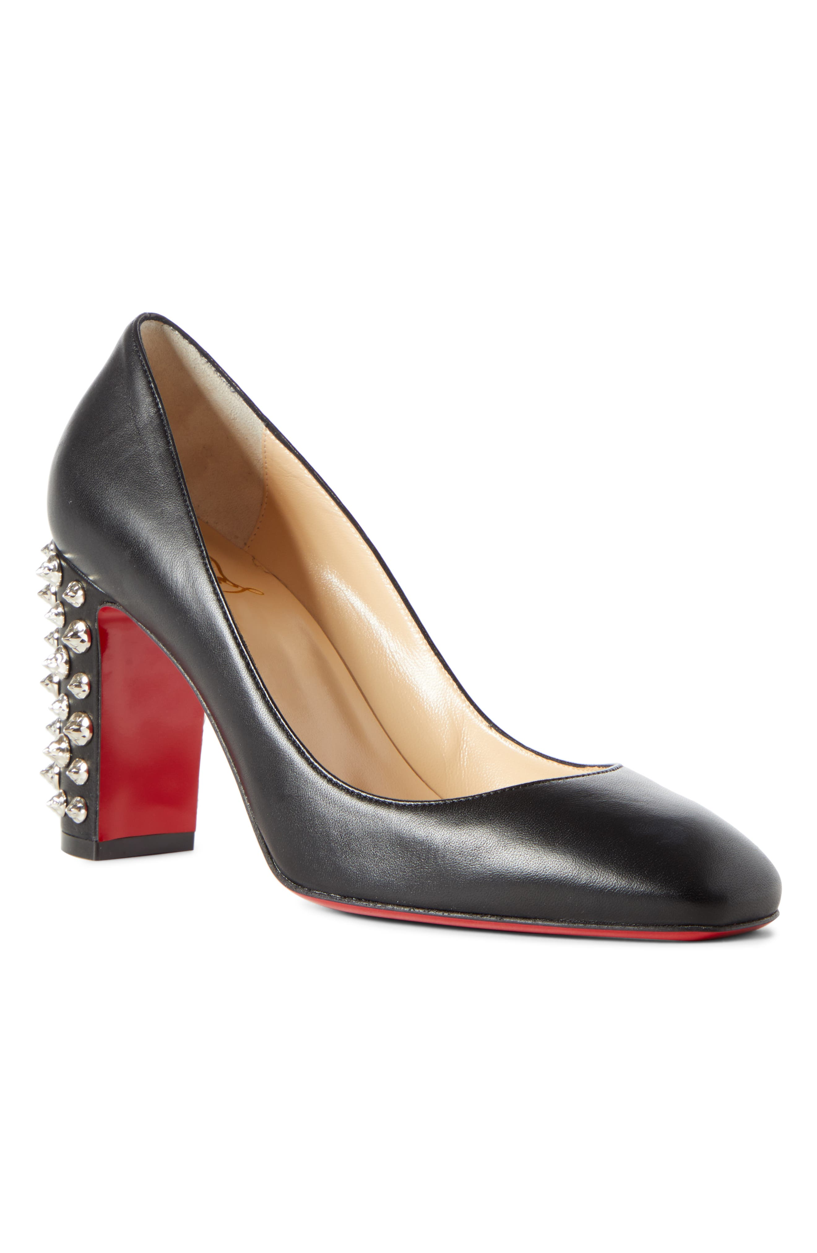 Christian Louboutin Donna Spike Square Toe Pump, Red