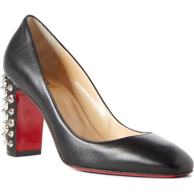 Christian Louboutin Donna Spike Square Toe Pump - Black