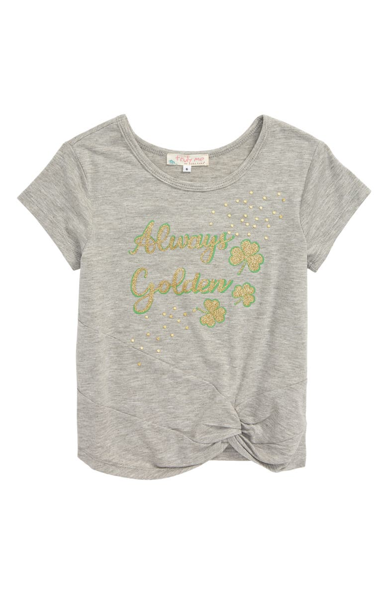 TRULY ME Always Golden Graphic Tee, Main, color, GRAY MULTI