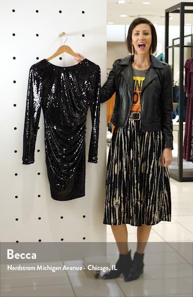 Lolita Sequin Long Sleeve Minidress, sales video thumbnail