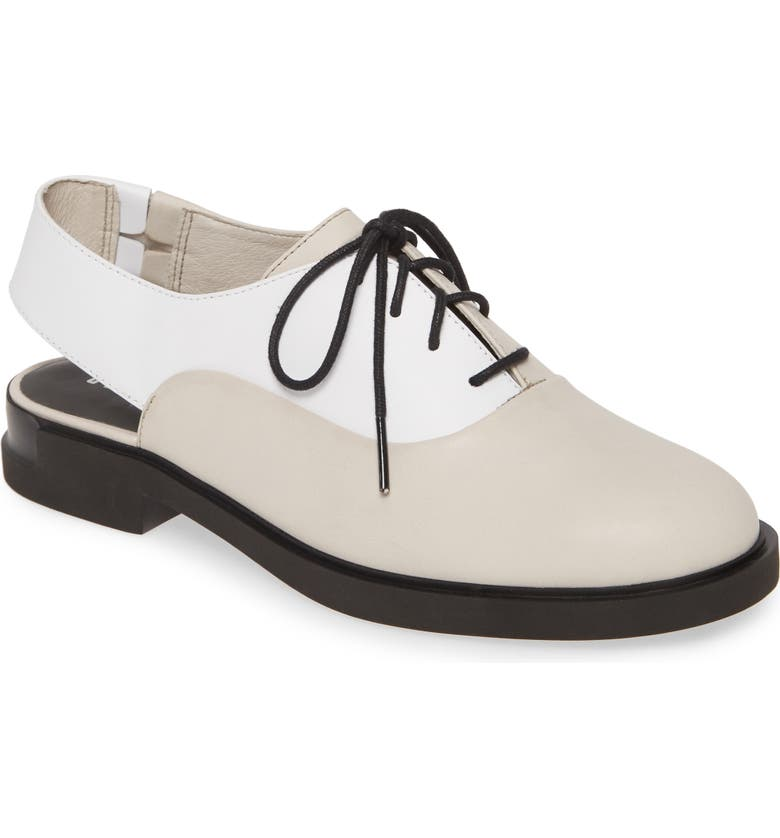 CAMPER Twins Open Back Oxford, Main, color, MULTICOLOR LEATHER