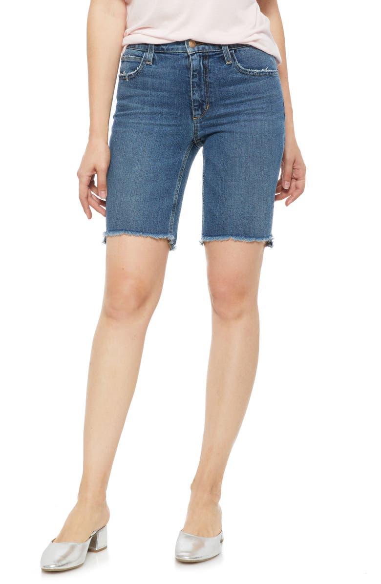 JOE'S Honey Curvy High Waist Bermuda Shorts, Main, color, SAXON