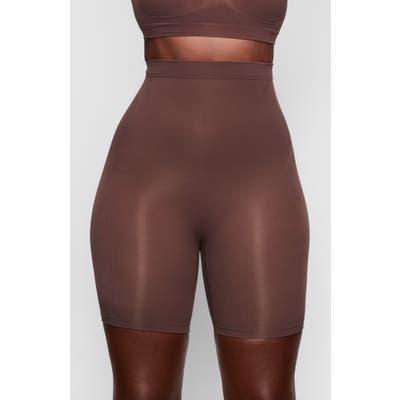 Plus Size Skims Sculpting Seamless Mid Shorts, X/5X - Brown