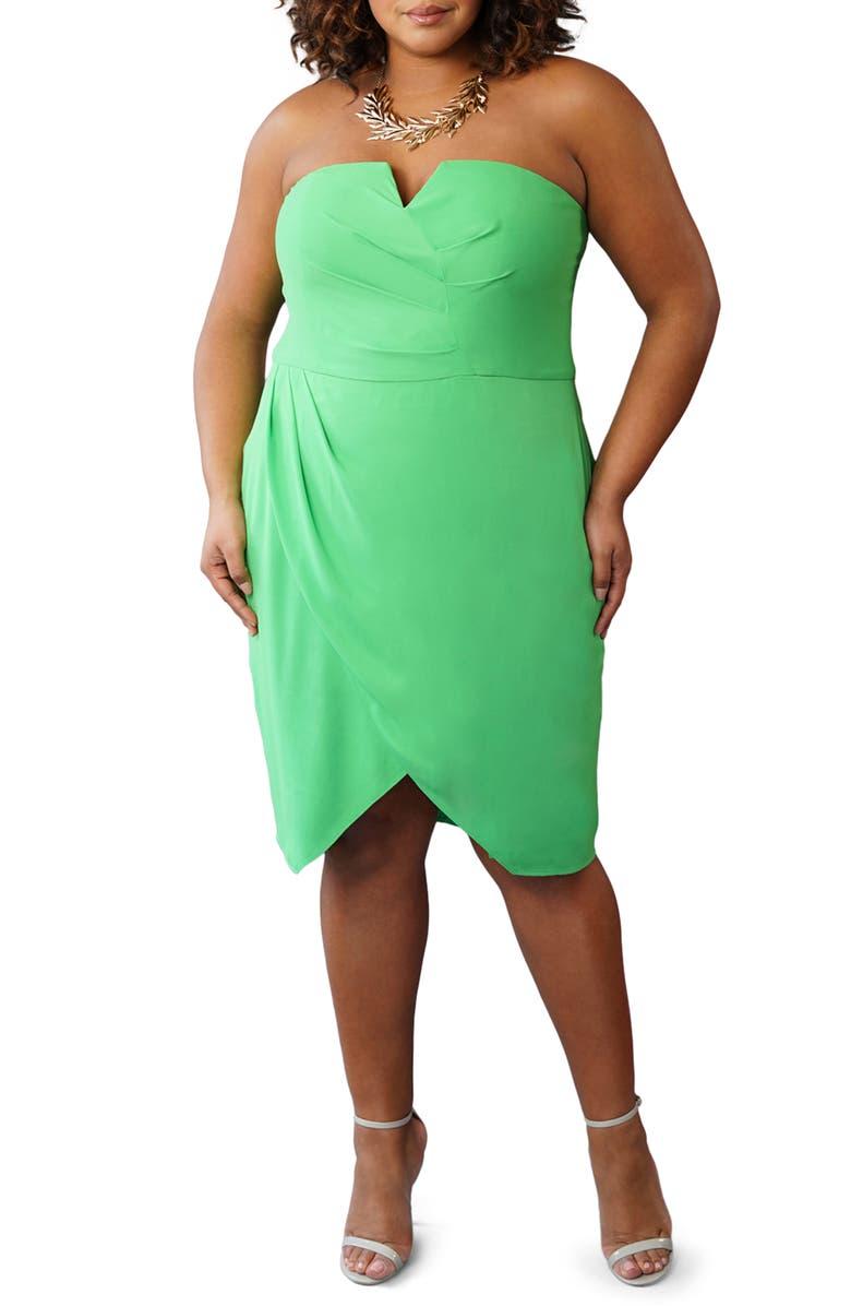 MARÉE POUR TOI Bustier Tulip Dress, Main, color, 350