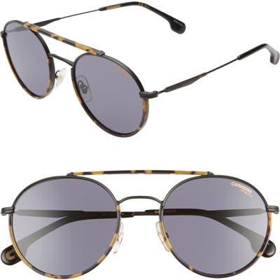 Carrera Eyewear 5m Round Sunglasses - Matte Black/ Gray Blue