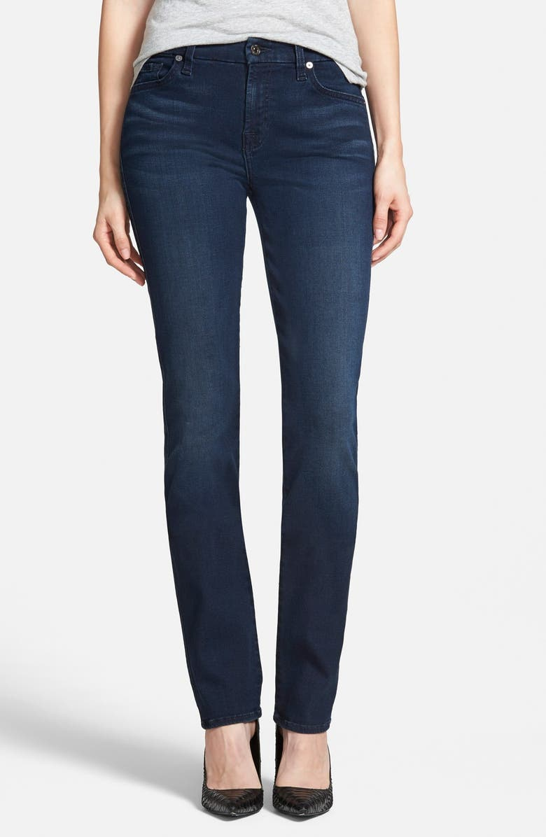 7 FOR ALL MANKIND<SUP>®</SUP> 'Slim Illusion - Kimmie' Straight Leg Jeans, Main, color, 404