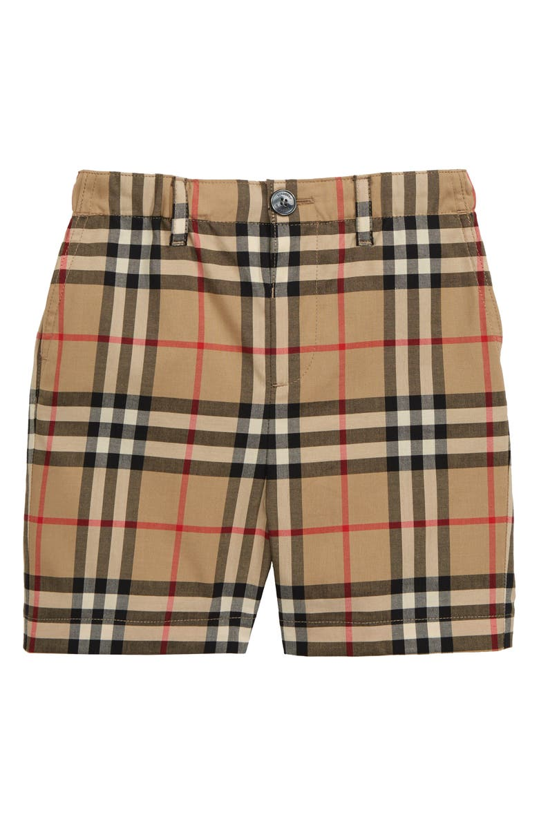 BURBERRY Sean Check Print Shorts, Main, color, 250