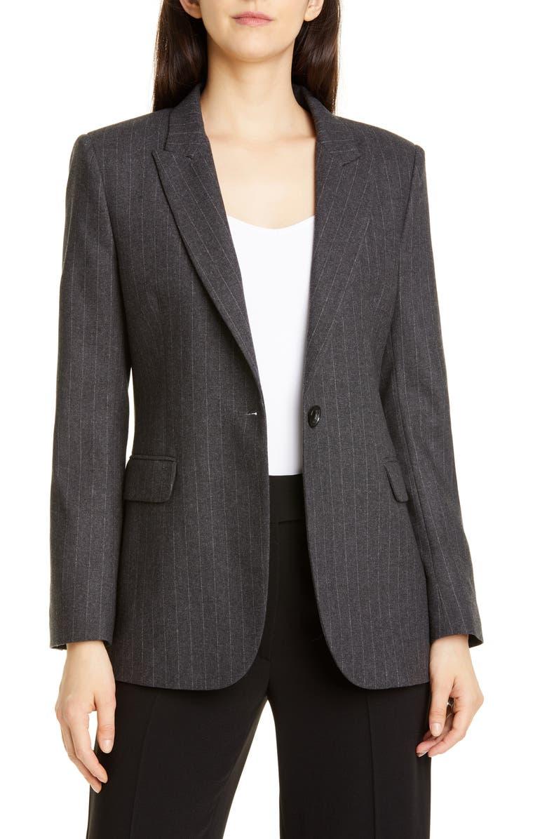 SEVENTY Pinstripe Suit Jacket, Main, color, 023