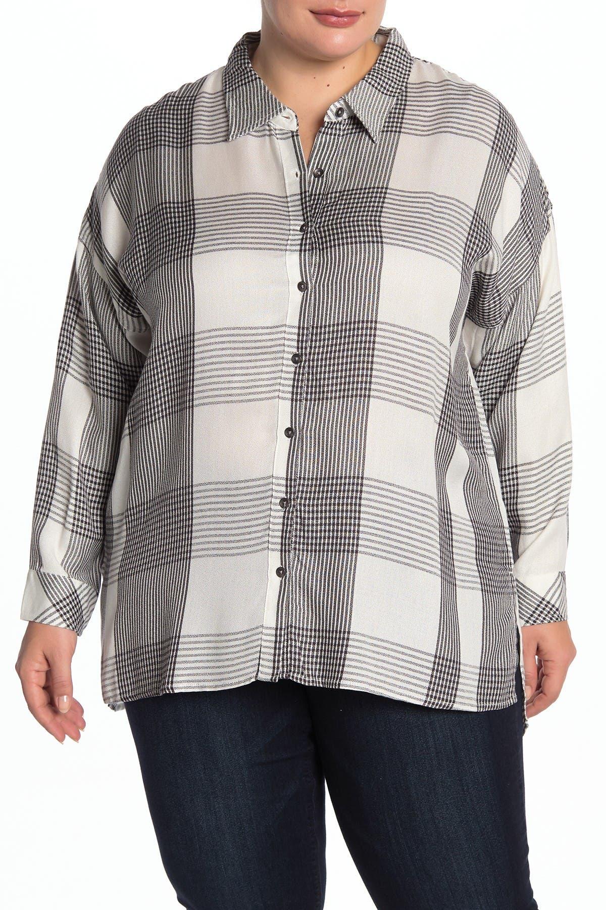 Image of Workshop Plaid Long Sleeve Shirt