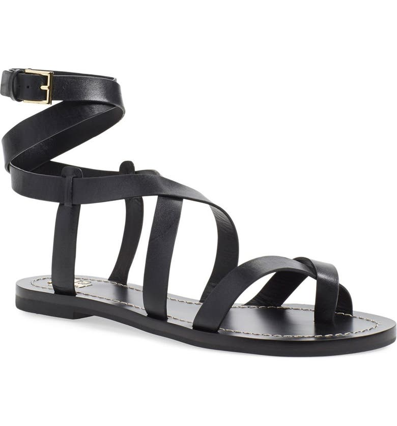 TORY BURCH 'Patos' Gladiator Sandal, Main, color, 001