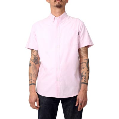 Lira Clothing Short Sleeve Cotton Shirt, Pink