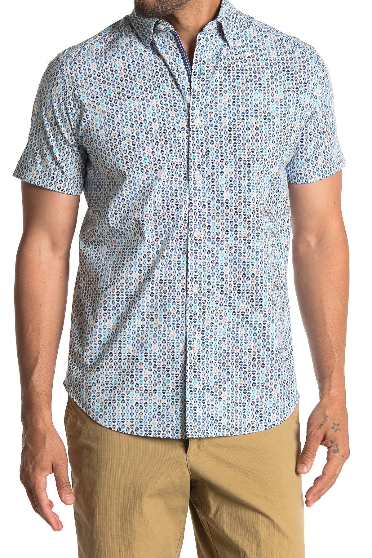 Image of Robert Graham Byron Tailored Fit Printed Woven Shirt