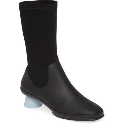 Camper Alright Cone Heel Boot, Black