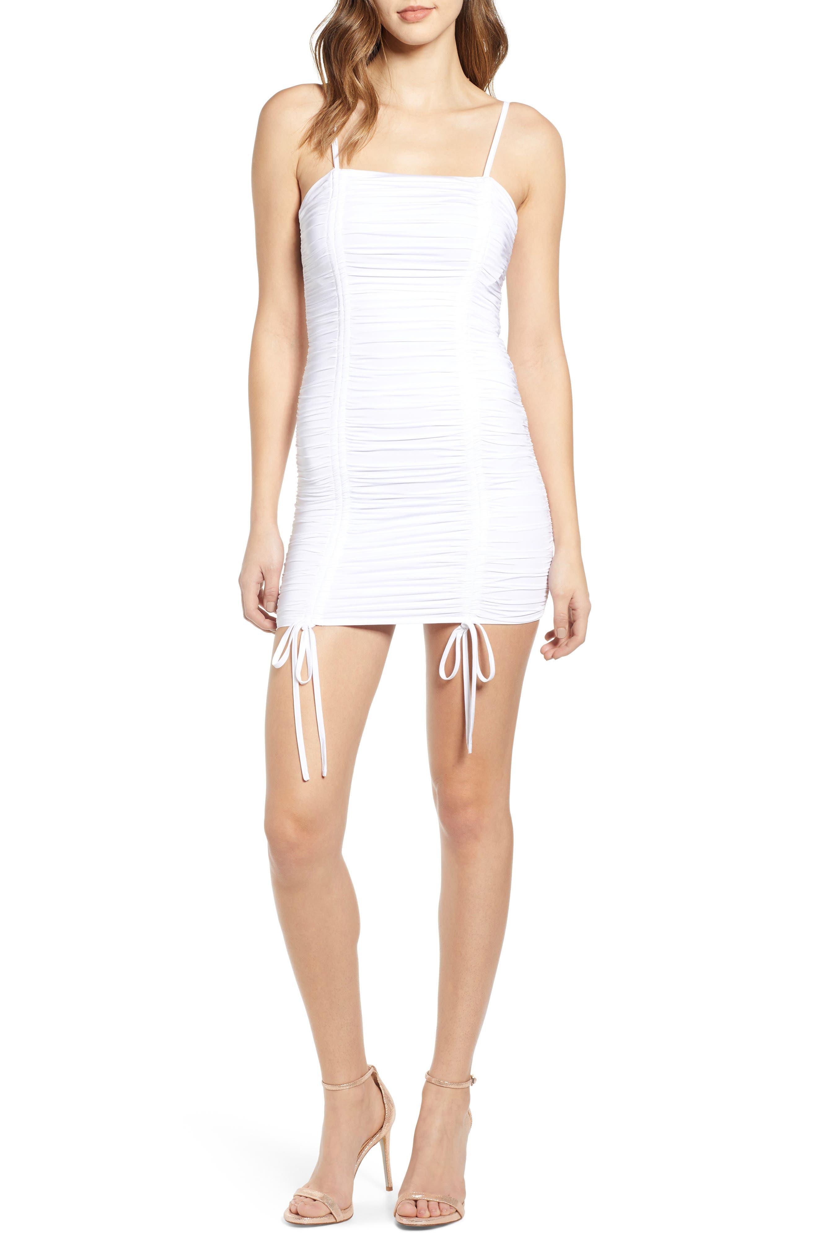 Tiger Mist Zion Ruched Mini Dress, White