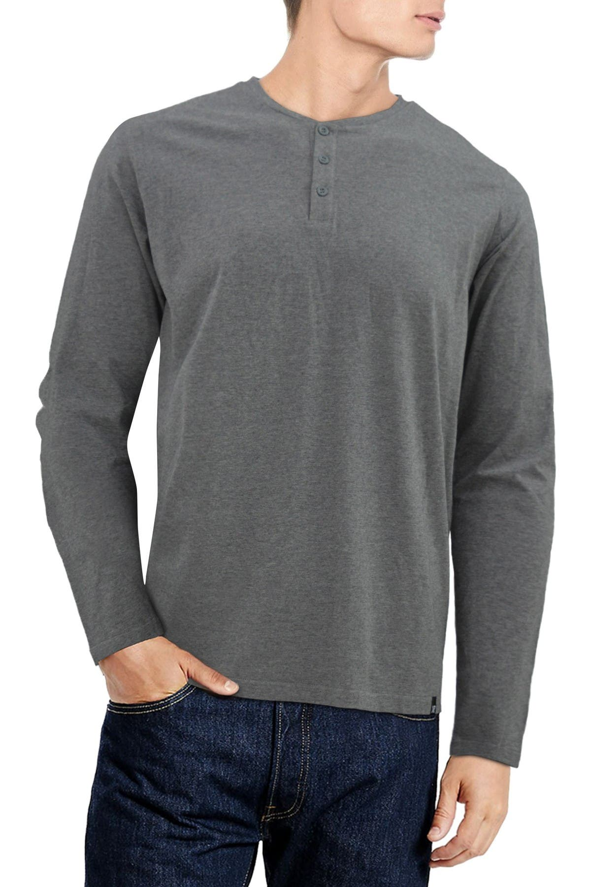 Image of XRAY Long Sleeve Henley Shirt