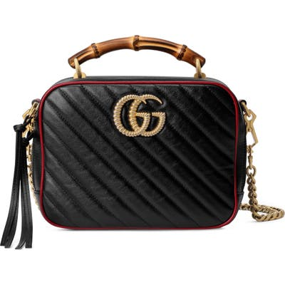 Gucci Small Quilted Leather Shoulder Bag - Black