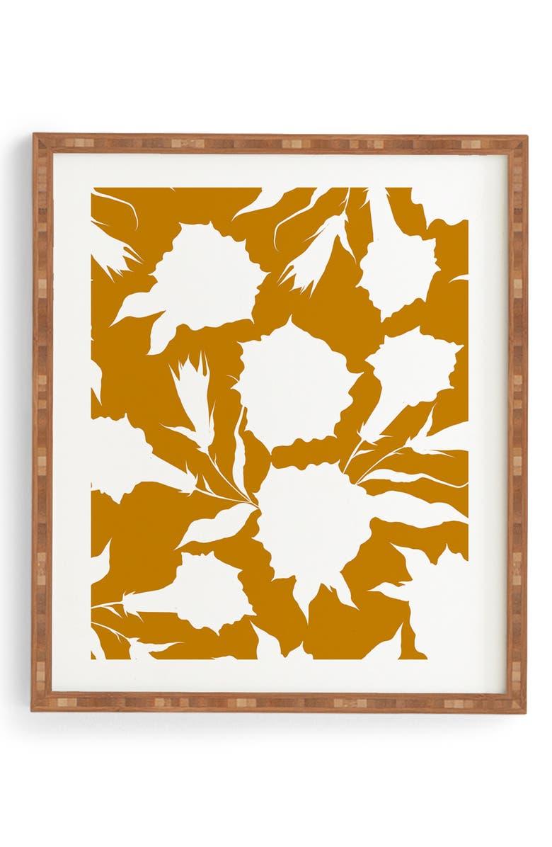 DENY DESIGNS La Jardin Noir VI Framed Wall Art, Main, color, 200