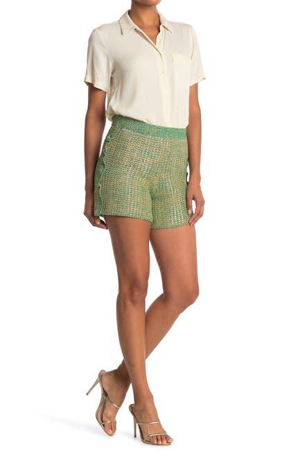 Image of M Missoni Metallic Knit Shorts