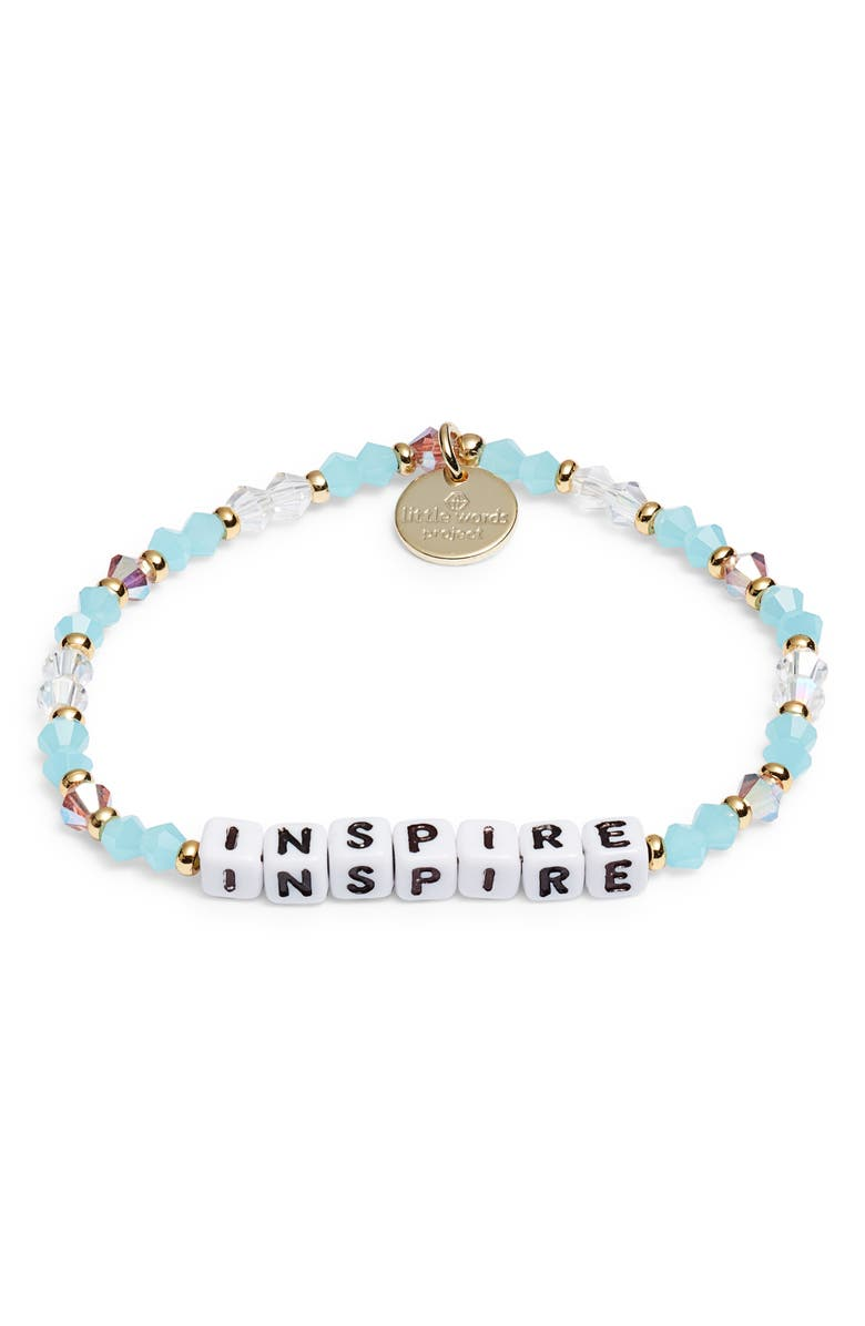 LITTLE WORDS PROJECT Inspire Beaded Stretch Bracelet, Main, color, 400