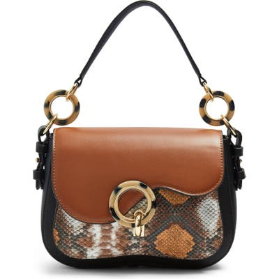 Topshop Carlo Shoulder Bag - Brown