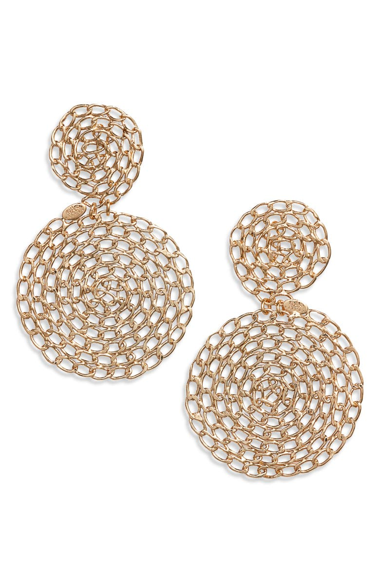 GAS BIJOUX Onde Gourmette Earrings, Main, color, 710