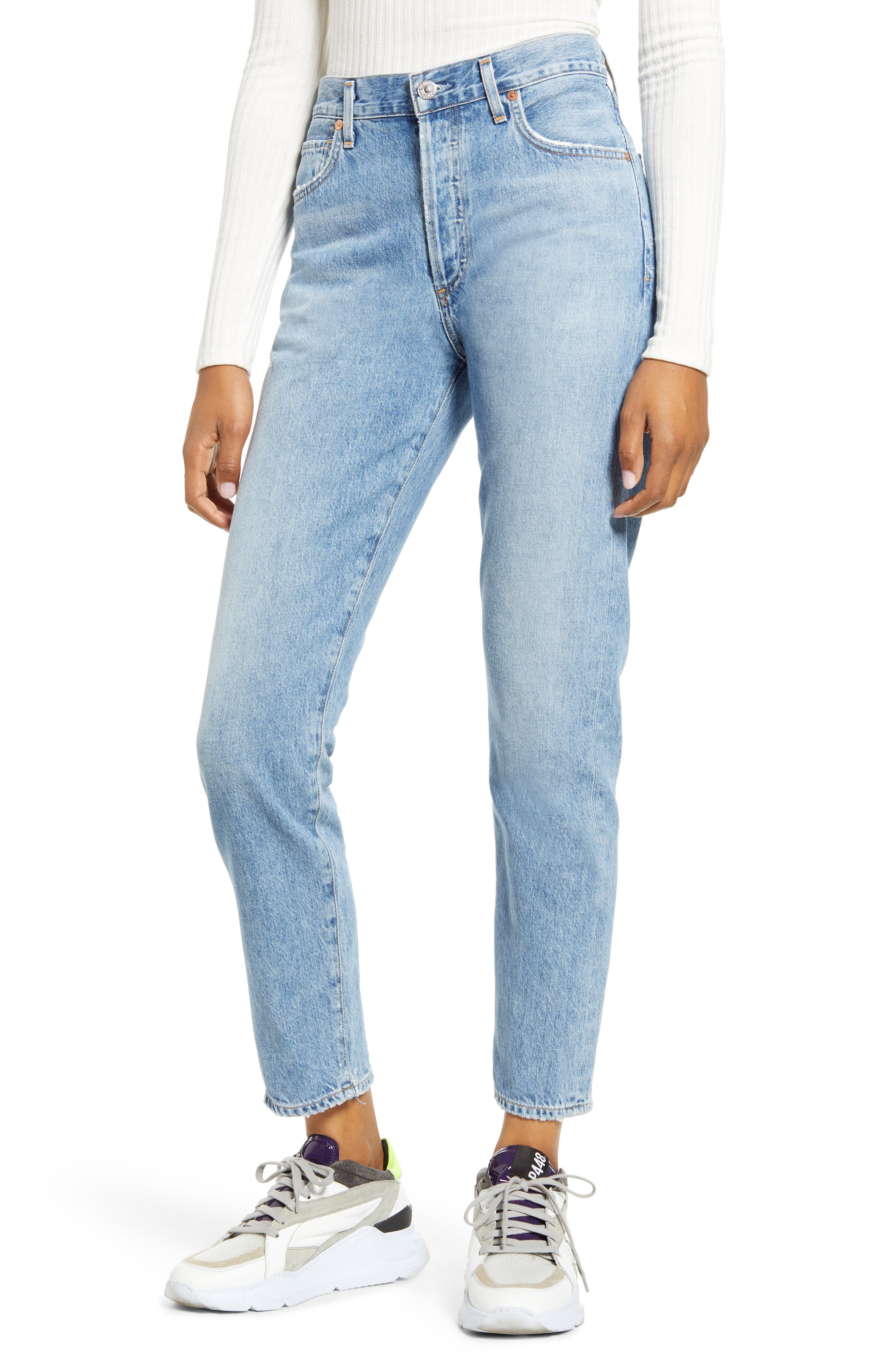 Citizens of Humanity Liya High Waist Nonstretch Organic Cotton Boyfriend Jeans (Soundtrack)
