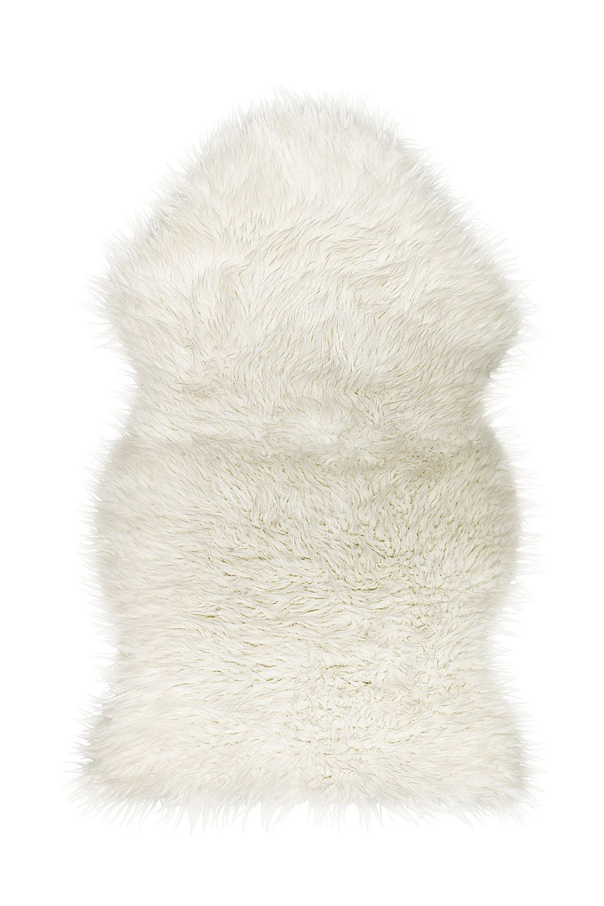 Image of LUXE Faux Fur Gordon Rug - 2ft x 3ft - Off White