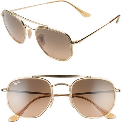 Ray-Ban 52Mm Aviator Sunglasses - Gold/ Brown Gradient