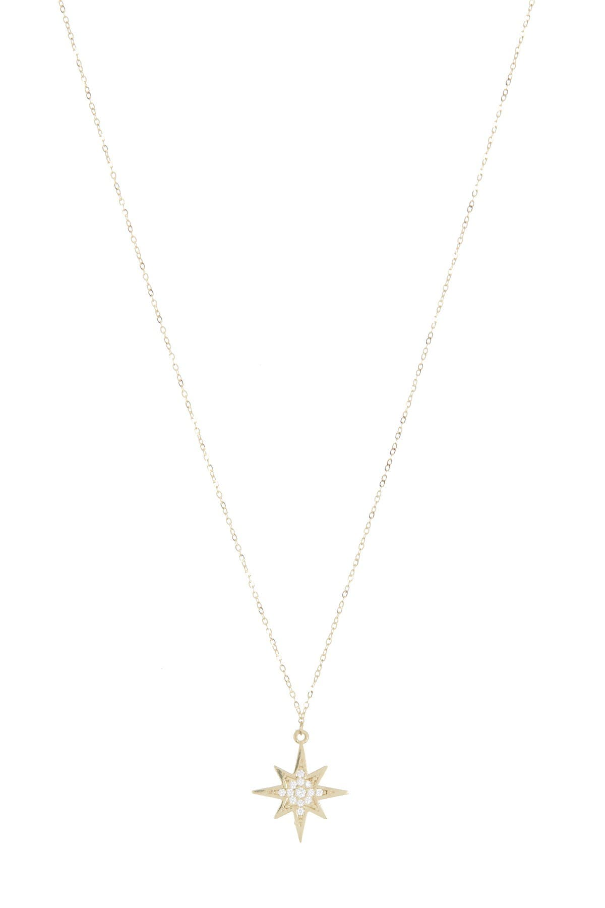 Image of Candela 10K North Star Cubic Zirconia Pendant Necklace