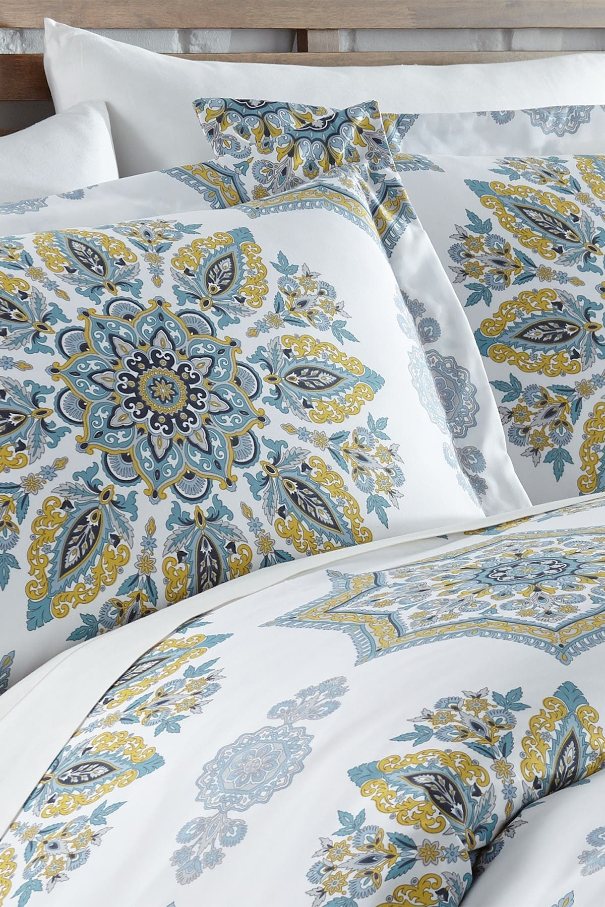 Image of SOUTHSHORE FINE LINENS Full/Queen Luxury Collection Duvet Set - Aqua