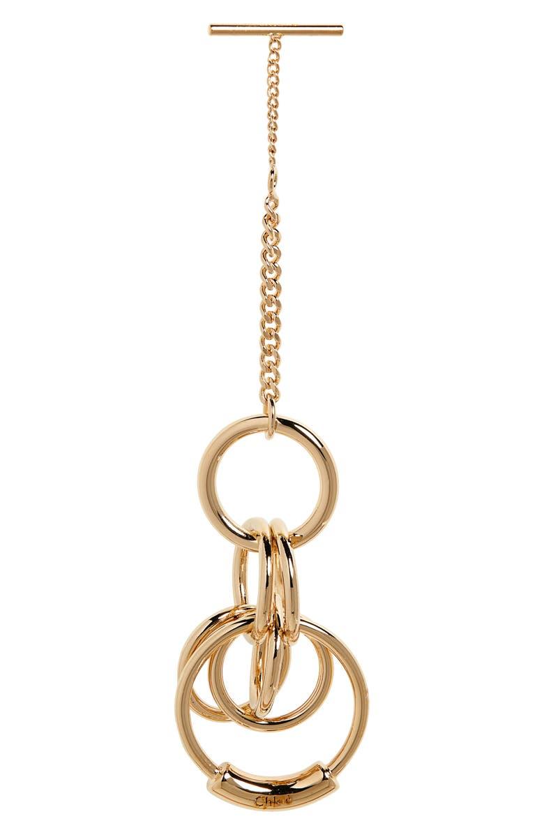 CHLOÉ Reese Eyewear Chain, Main, color, GOLD