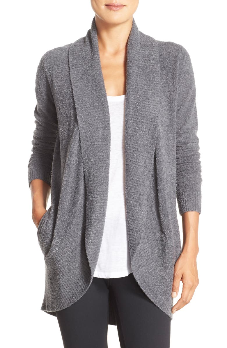 BAREFOOT DREAMS<SUP>®</SUP> CozyChic<sup>™</sup> Lite Circle Cardigan, Main, color, GRAPHITE