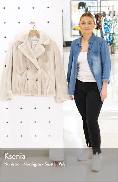 Double Breasted Plush Jacket, sales video thumbnail