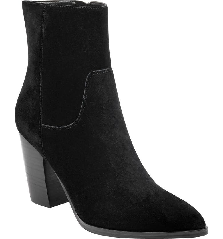MARC FISHER LTD Giana Western Bootie, Main, color, BLACK SUEDE