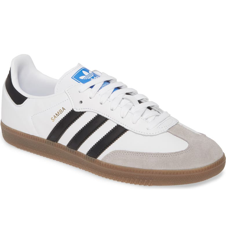 ADIDAS Samba OG Sneaker, Main, color, WHITE/ BLACK