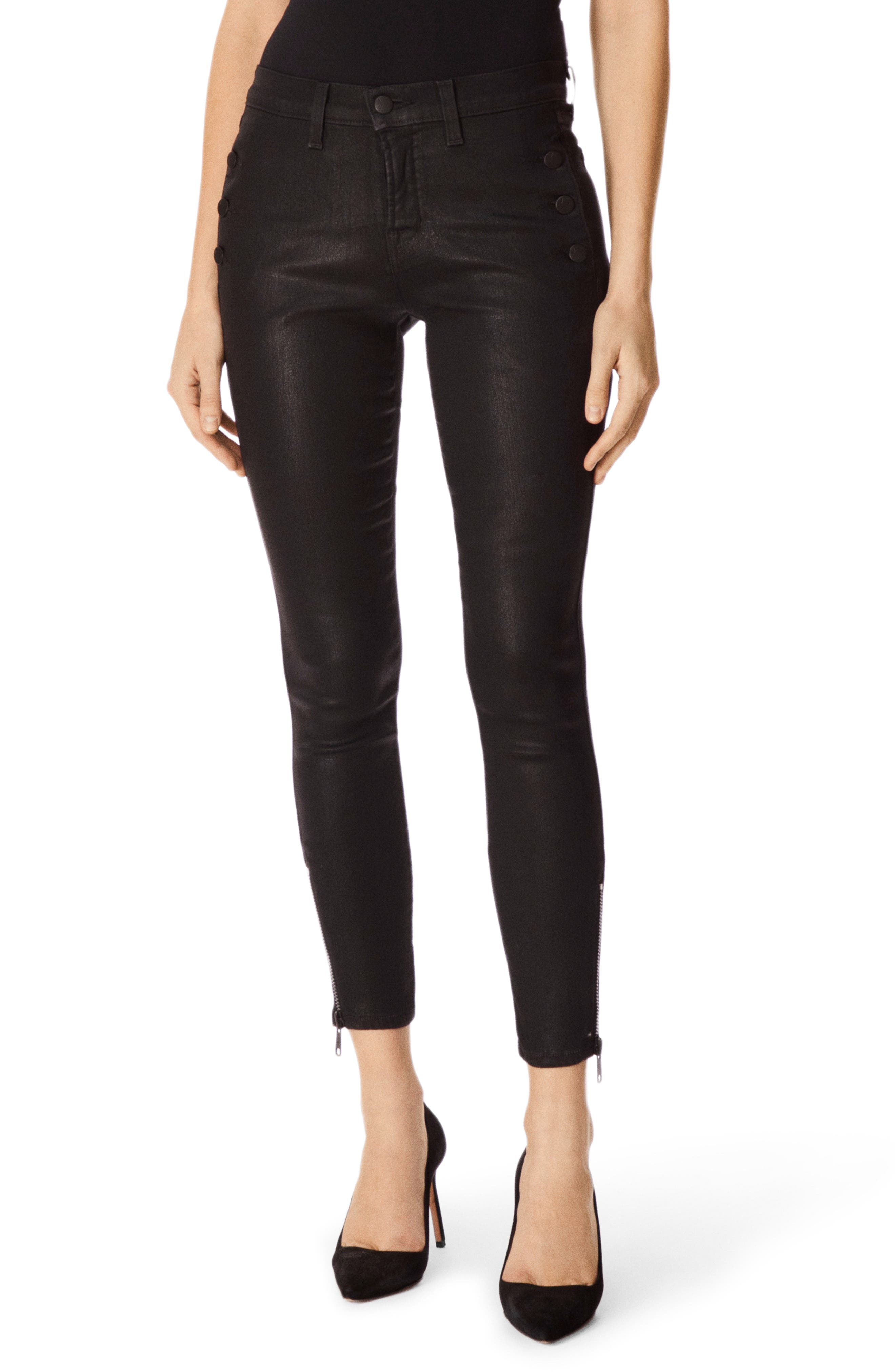 Zion Coated Ankle Skinny Jeans by J Brand